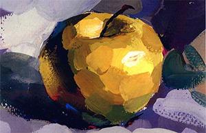 色彩苹果的画法步骤图-美院帮