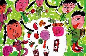 春季儿童美术课件-[春游]色彩练习