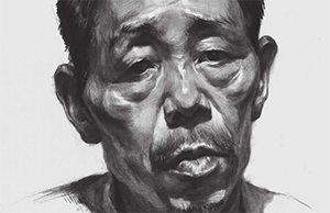 男性老年人素描头像怎么画