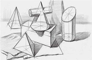 多个形体组合结构的画法