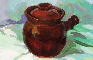 带手柄的陶罐的表现技法解析