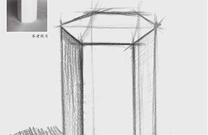 六棱柱体结构怎么画