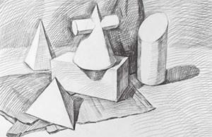 多个石膏形体组合步骤图