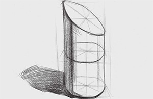 切面圆柱体结构怎么画