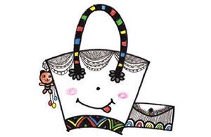 儿童装饰画:给妈妈设计的包的画法