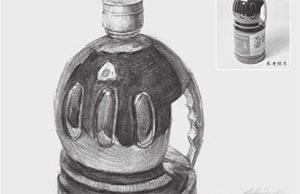素描酱油瓶的画法