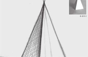 四棱锥体结构的画法