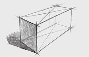 四棱柱体结构的画法