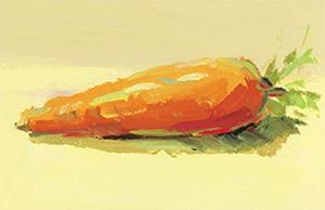 色彩胡萝卜的画法