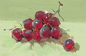 色彩葡萄的画法