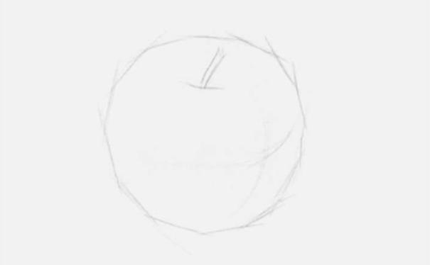 正放素描苹果图片步骤一