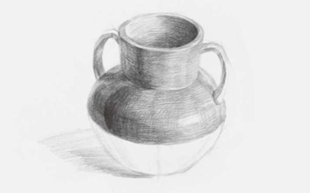 双耳素描陶罐图三