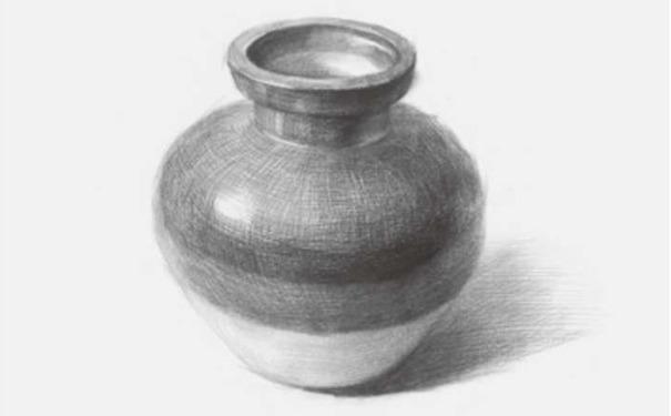 素描陶罐图四
