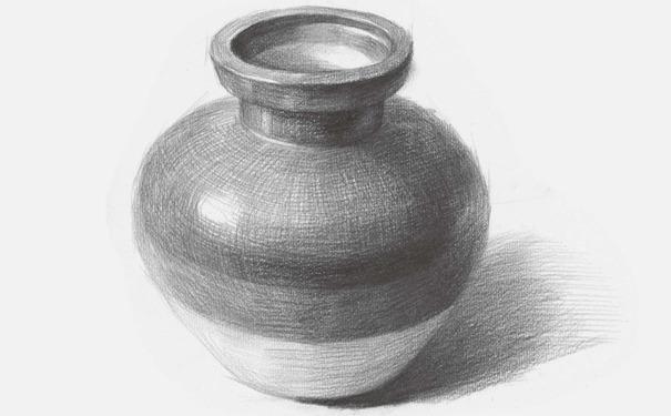 素描陶罐的画法解析图