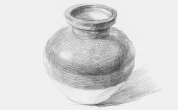 素描陶罐图三