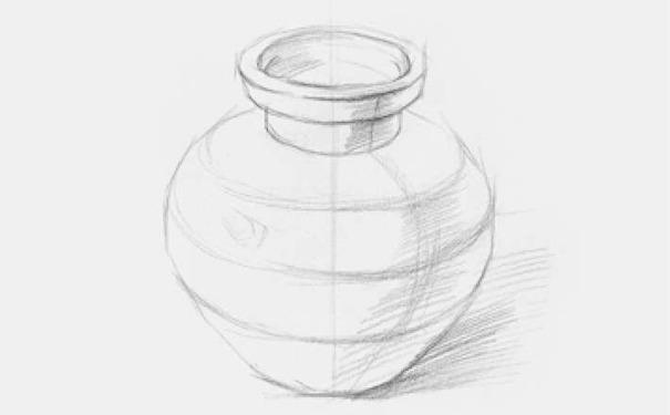 素描陶罐图二