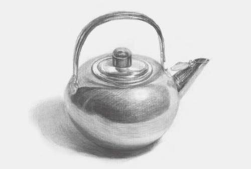 圆形素描不锈钢水壶步骤三