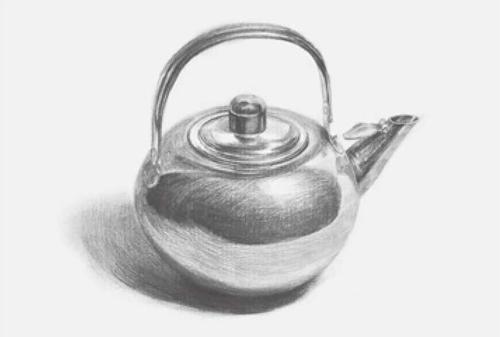 圆形素描不锈钢水壶步骤四