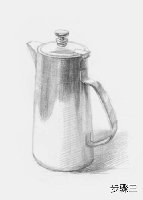 柱形素描不锈钢水壶步骤三