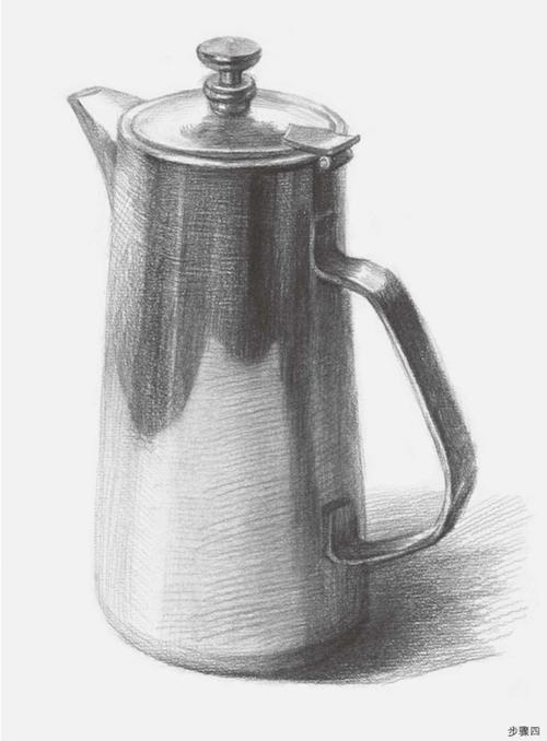 柱形素描不锈钢水壶步骤四