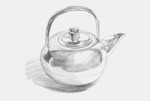 圆形素描不锈钢水壶步骤二