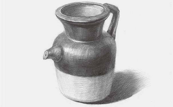 陶壶素描图片