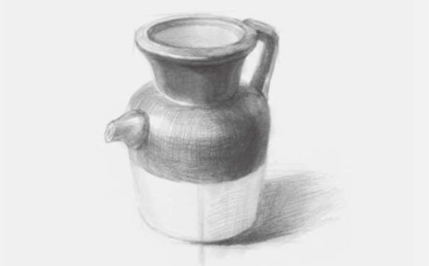 素描陶壶图片步骤四