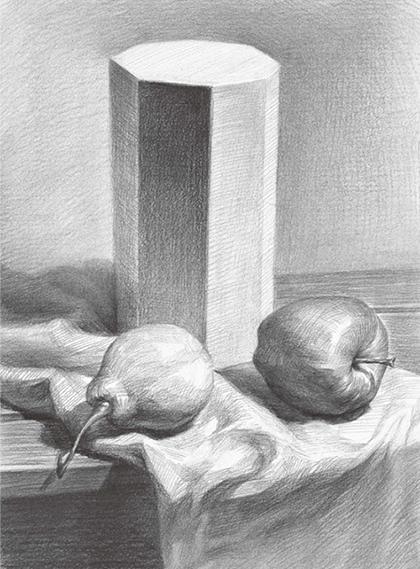 石膏体与水果组合