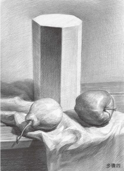 石膏体与水果组合步骤四