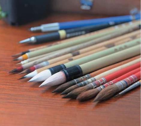 水彩画画笔正确的使用沒保存方法