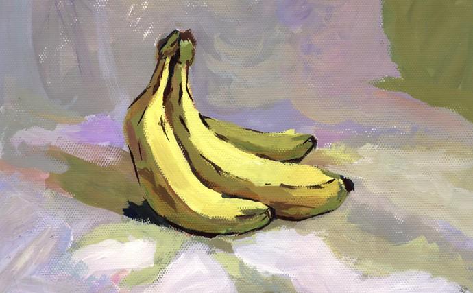 水粉画香蕉图片
