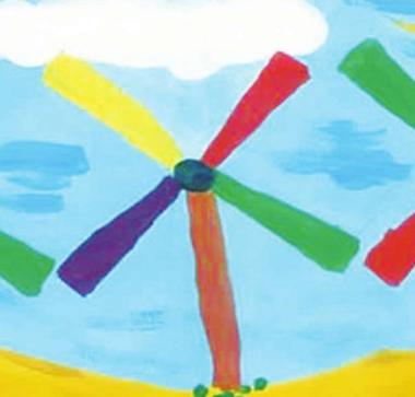 天空下的风车