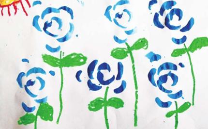 幼儿美术课程教案:蓝色玫瑰
