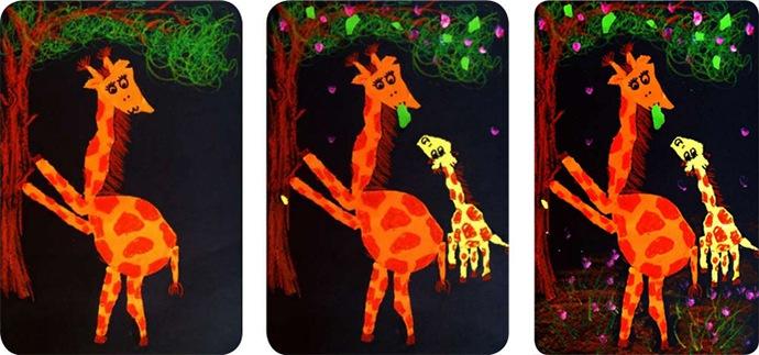 长颈鹿绘画步骤图