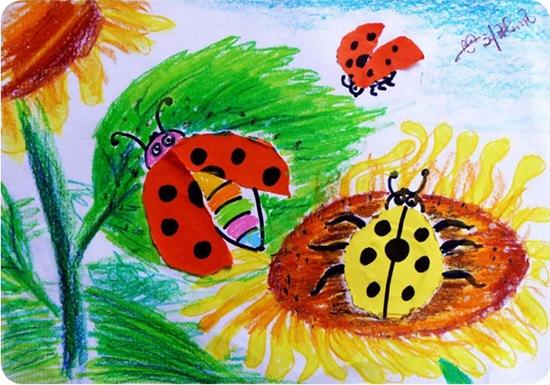 七星瓢虫绘画作品