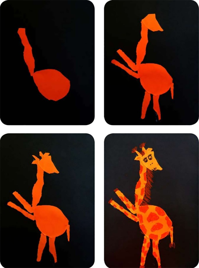 儿童画长颈鹿步骤