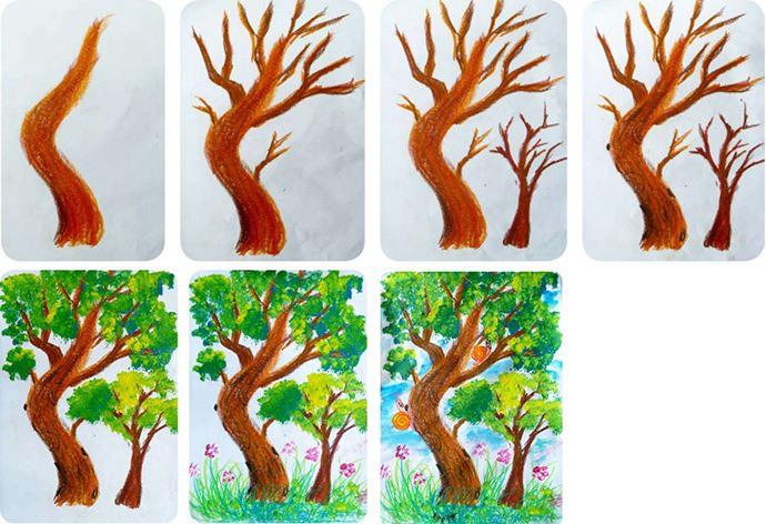 生命之树作画步骤