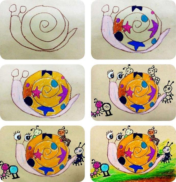 蜗牛作画步骤