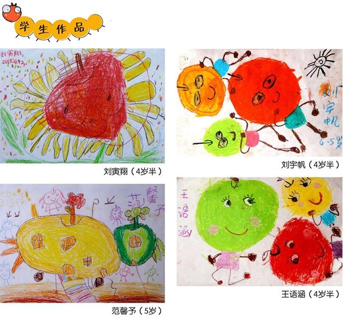 儿童绘画苹果作品欣赏