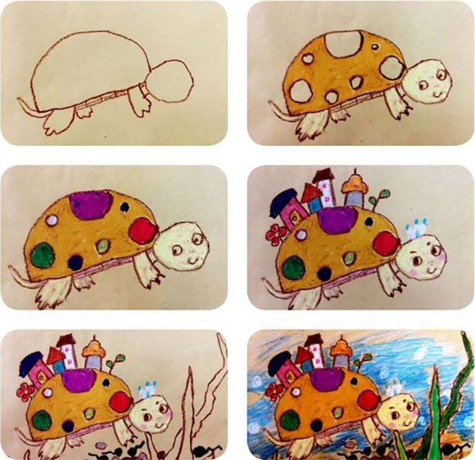 乌龟绘画步骤
