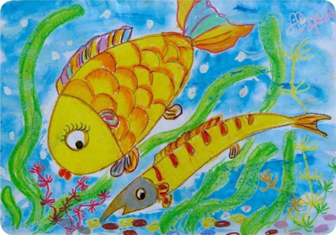 少儿绘画-鱼