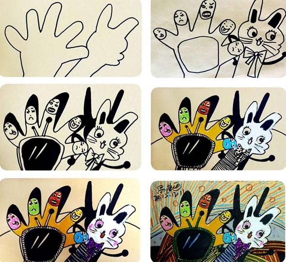 手的绘画步骤