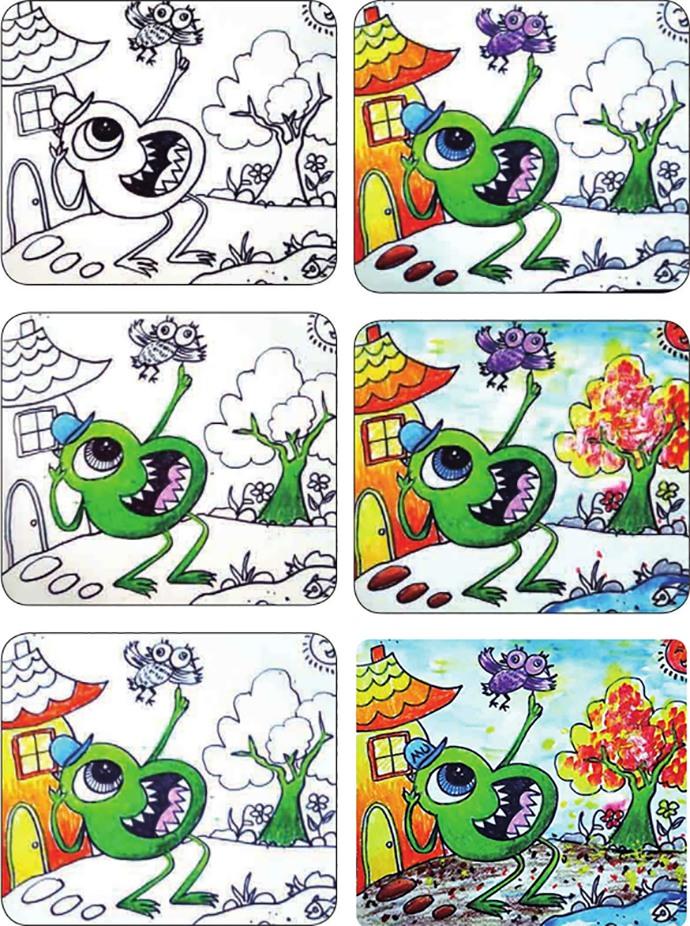 怪兽绘画步骤图