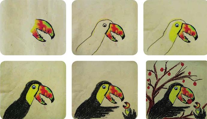 巨嘴鸟绘画步骤图