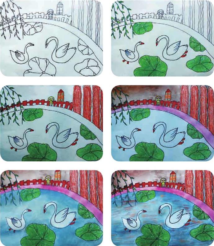 鹅绘画步骤
