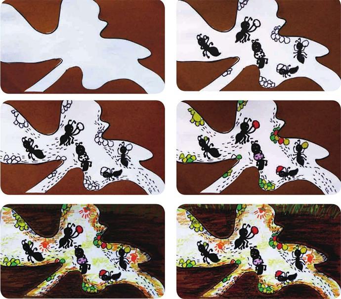 蚂蚁绘画步骤