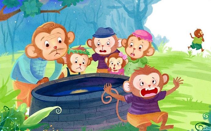 6岁儿童绘画课程教案「猴子捞月」