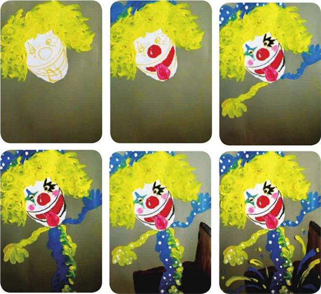 调皮的小丑绘画步骤图