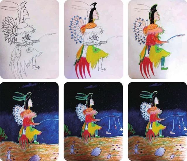 印第安人绘画步骤图