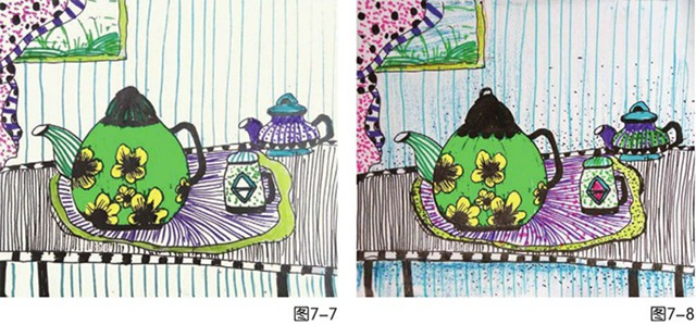 茶壶绘画步骤